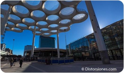 La nueva entrada de Utrecht Centraal desde el centro