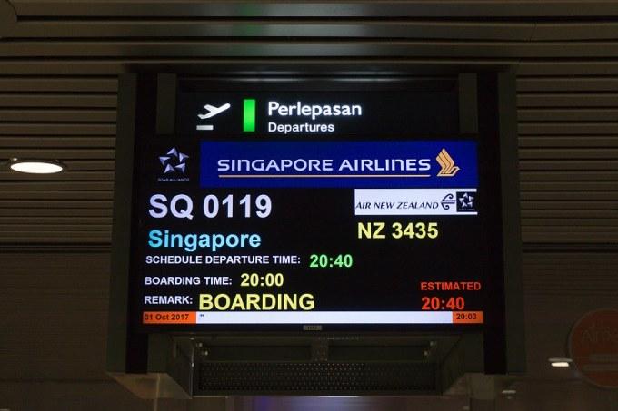 171028 マレーシア航空SQ119マレーシアーシンガポール