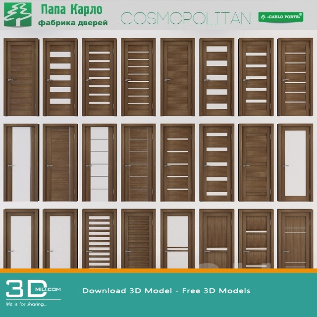 169 doors 3dsmax model
