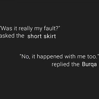 skirt or Burqa #StillNotAskingForIt