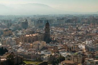 Na een kort verblijf in Huelva was Malaga aan de beurt. Dit is het uitzicht over de stad vanuit de Alcazaba.