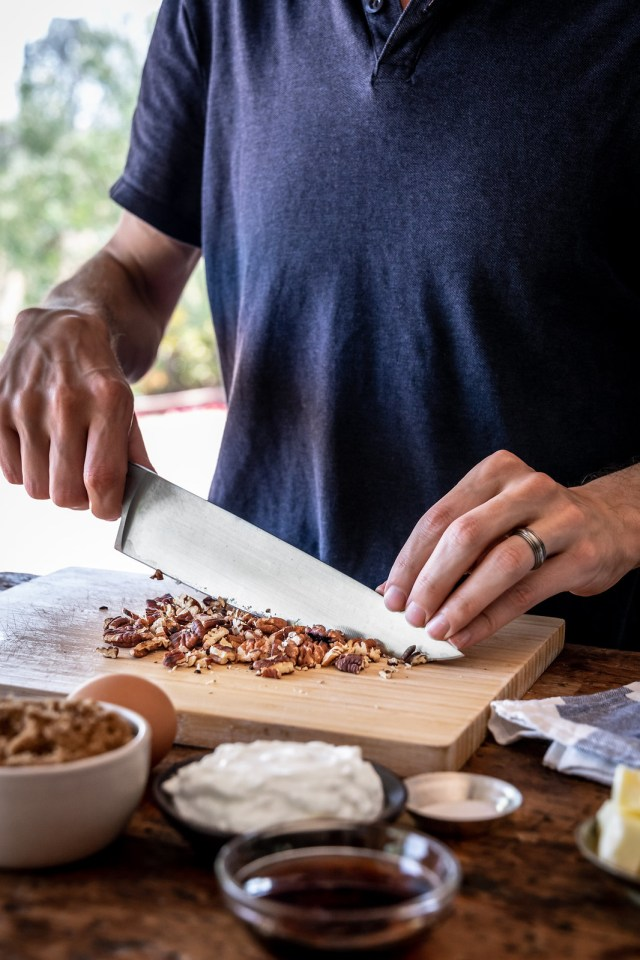 when chopping, leave some larger pieces for a crunchy texture