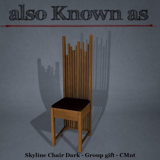 Skyline Chair Dark - Group gift