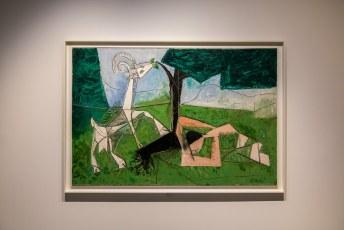 Binnen nog meer werkjes van Picasso.