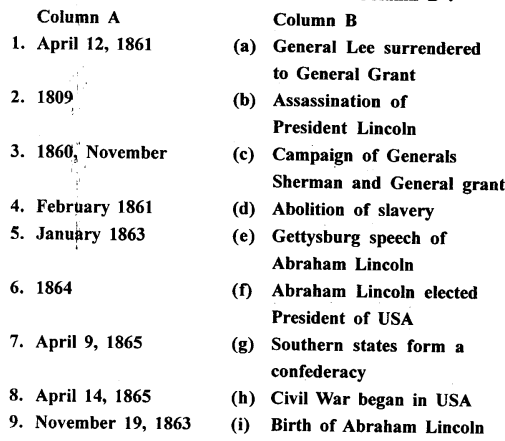 ICSE Solutions for Class 8 History and Civics - The American Civil War-his-00039