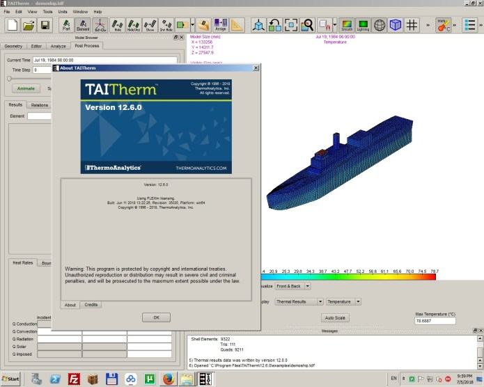 Working with ThermoAnalytics TAITherm 12.6.0 full license