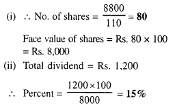 Selina Concise Mathematics Class 10 ICSE Solutions Chapter 3 Shares and Dividend Ex 3A 13