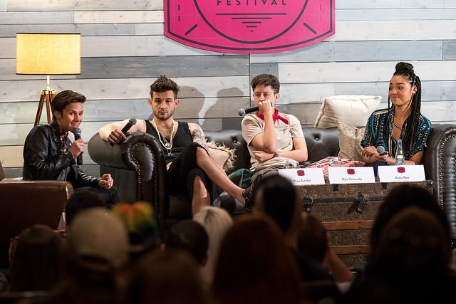 Cameron Esposito, Nico Tortorella, Rhea Butcher and Aisha Dee