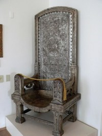 Gilded wood carved chair designed by Queen Marie of