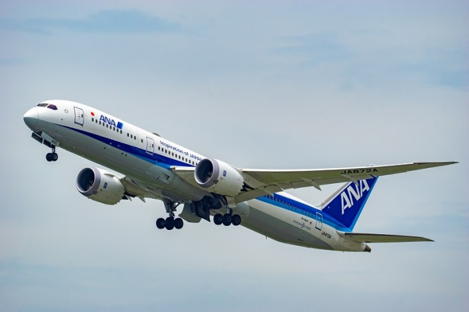 180722 ANA機体工場見学「A滑走路から離陸直後のANA B787-9」