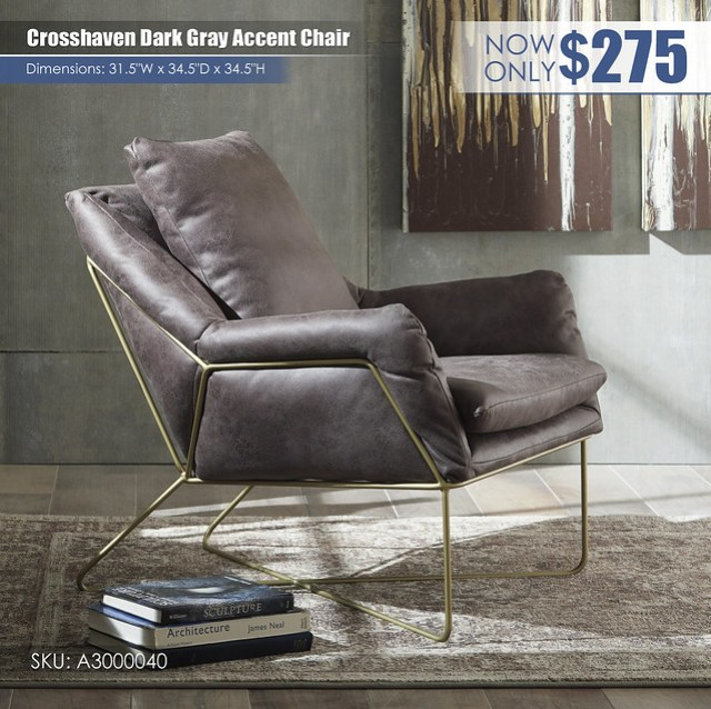 Crosshaven Gray Accent Chair_A3000040