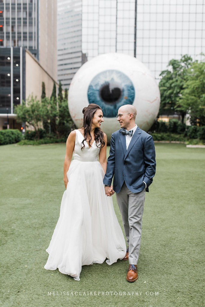 Giant Eyeball Wedding Photos