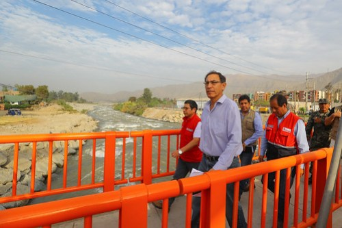 Presidente Vizcarra supervisa puente Ñaña, en Chaclacayo.