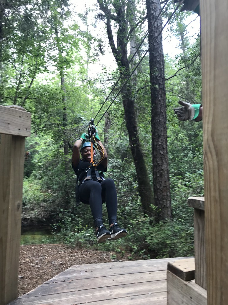 Wheee! Zipline at Adventures Unlimited Outdoor Center in Milton, Santa Rosa County, Fla., May 2018.