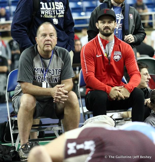 Minnesota Coaches Doug Paulson and Jayson Ness 180716AJF0086