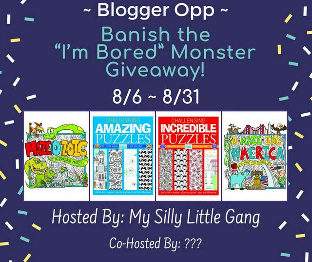 "Blogger Opp Banish the ""I'm Bored"" Monster Giveaway"
