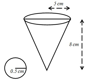 Maths Solutions For Class 10 NCERT Hindi Medium Surface Areas and Volumes 13.1 28