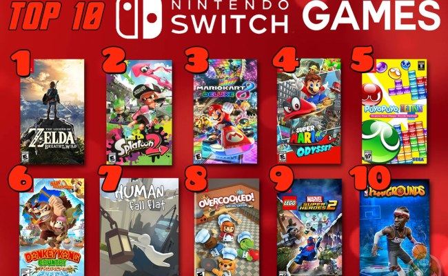 Top 10 Nintendo Switch Games Top 10 Week 2018 Keeps