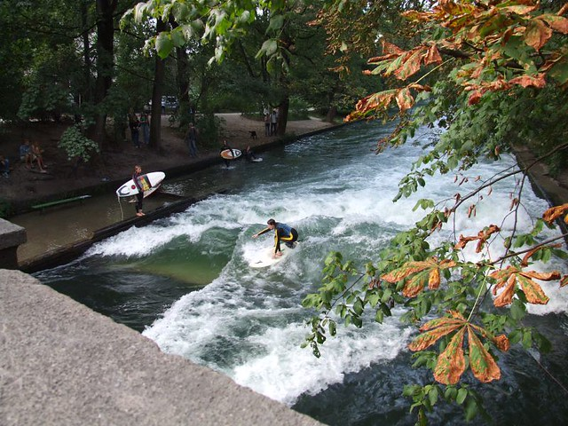 surfing on eisbach. things to do in munich, munich or berlin