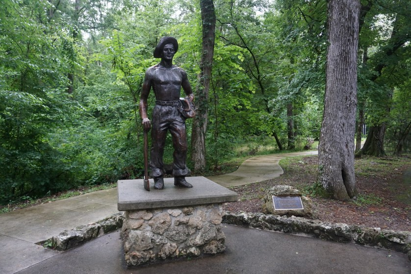 A Statue Dedicated to the Civilian Conservation Corps in Florida Caverns State Park in Marianna, Fla., May 2018.
