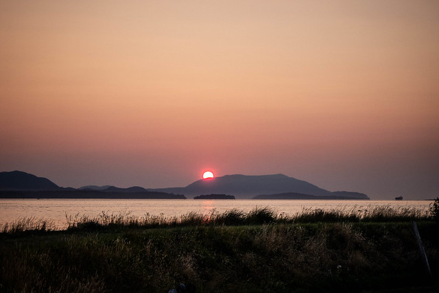 Skagit Sunset over Orcas Island-014