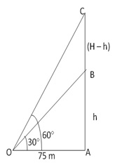 RS Aggarwal Solutions Class 10 Chapter 14 Height and Distance Ex 14a 16