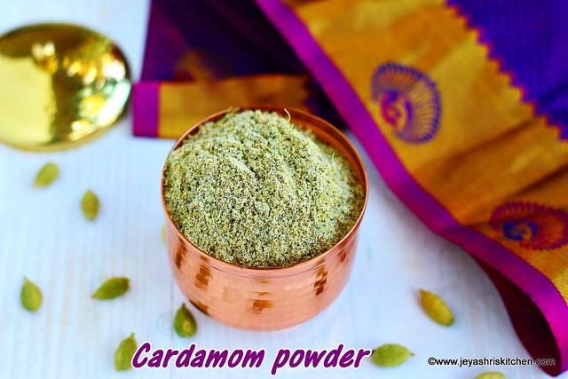 Cardamom powder recipe