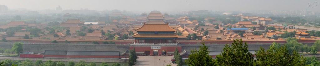 Forbidden City from Jingshan park 景山公園