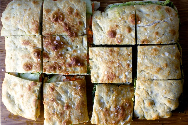 focaccia sandwiches for a crowd