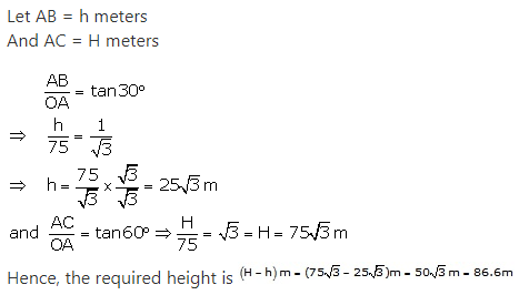 RS Aggarwal Solutions Class 10 Chapter 14 Height and Distance Ex 14a 17