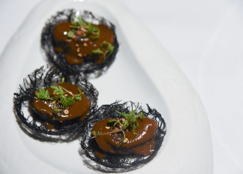 braised baby abalone at labyrinth
