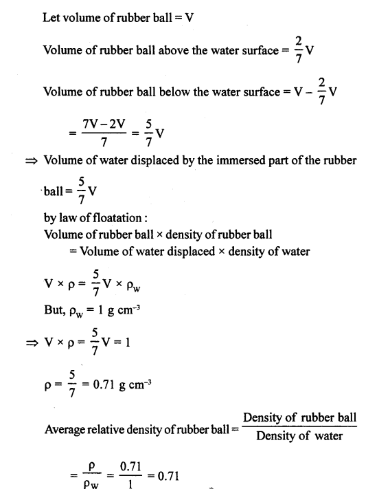 A New Approach to ICSE Physics Part 1 Class 9 Solutions Archimedes' Principle..0101