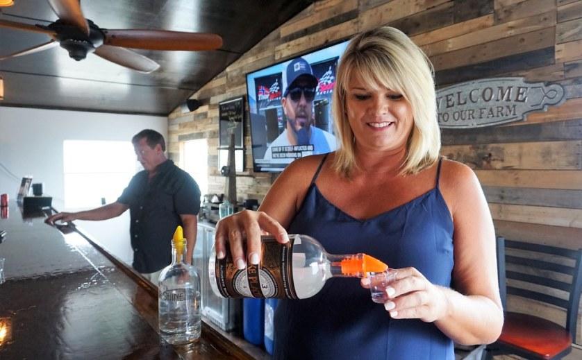 Jessica Giffin of Sugar Sand Distillery in Lake Placid, Fla., July 2018.