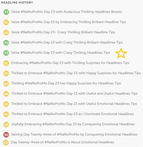 Day 23 #NaNoProMo Emotional Headlines @JLenniDorner 7