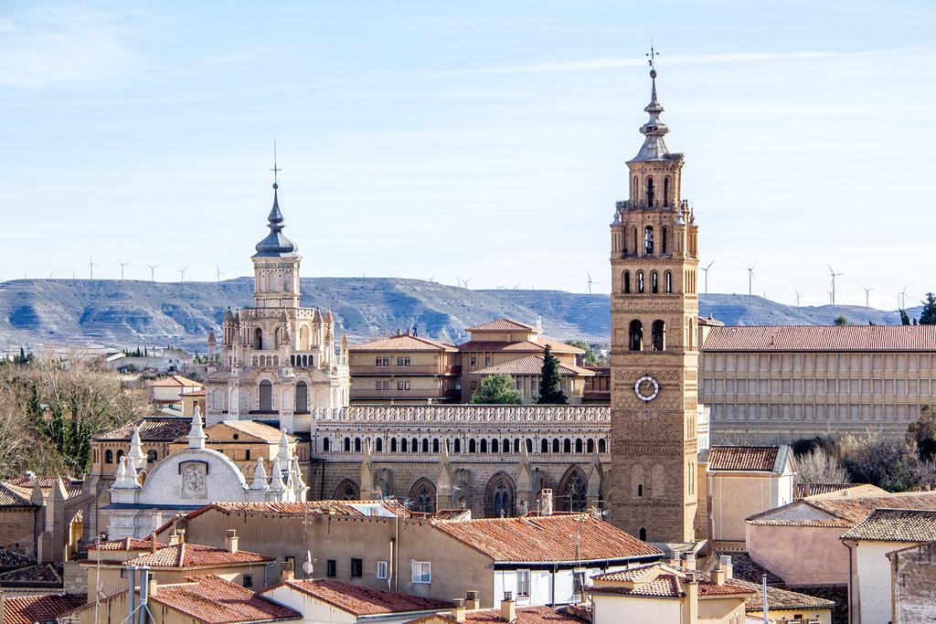 vista fachada norte exterior Catedral de Nuestra Señora de la Huerta de Tarazona Zaragoza 01