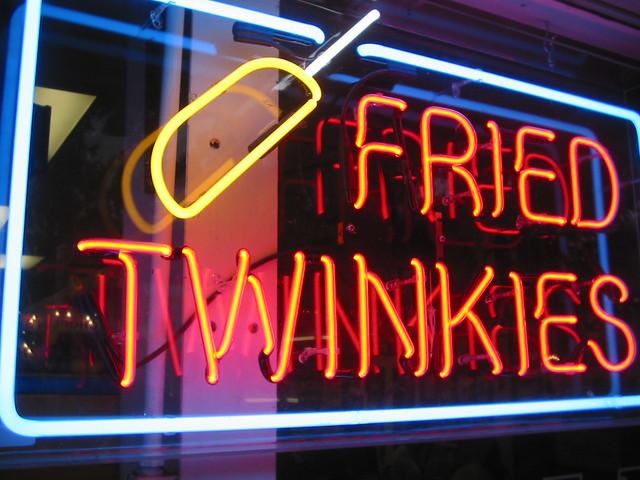 fried twinkies in neon!