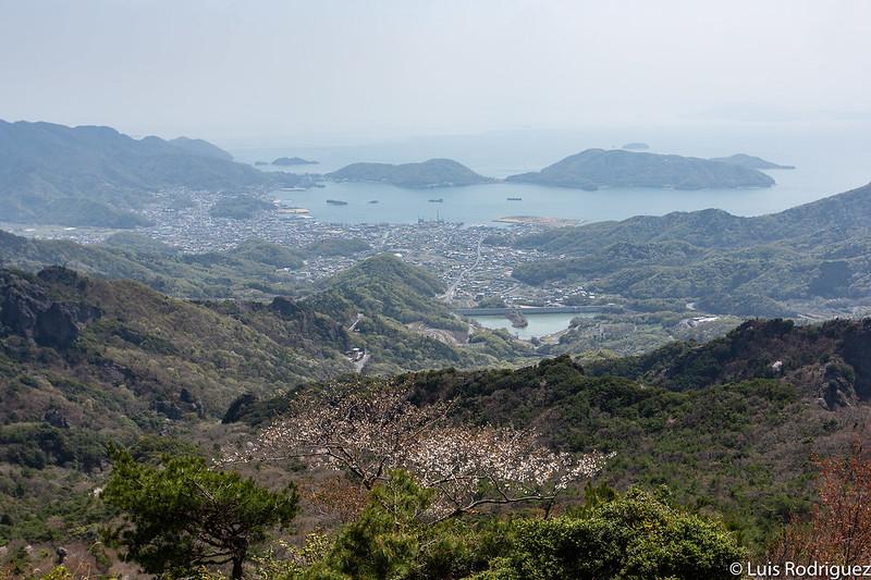 Vistas de Shodoshima desde lo alto de la garganta Kankakei