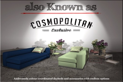 also Known as - Andromeda Daybeds with accessories