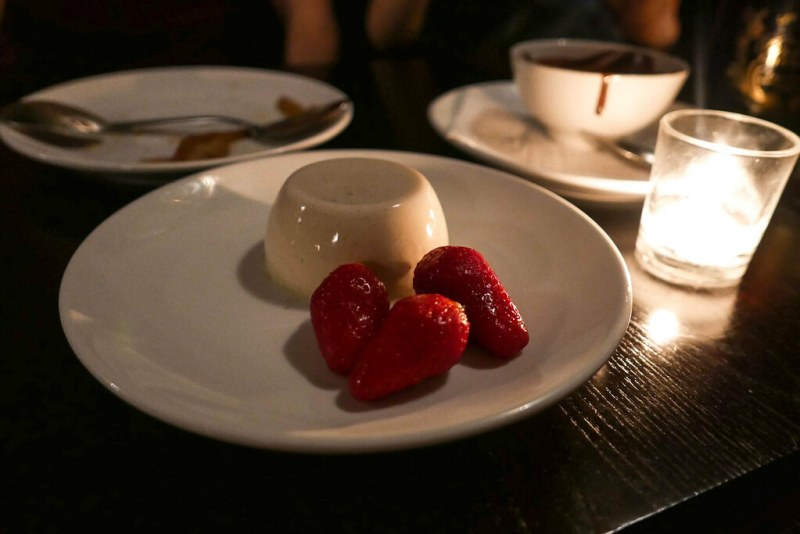 Spring Darjeeling Tea Panna Cotta, Gaiguette Strawberries ($12)
