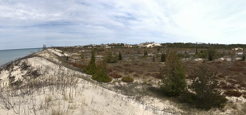 Sandbanks panorama lakeside dunes