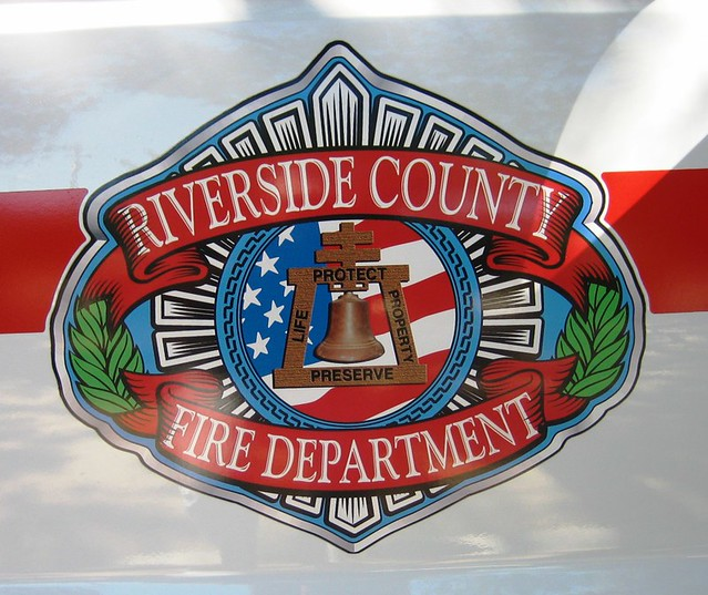 County Department Fire Riverside Logo