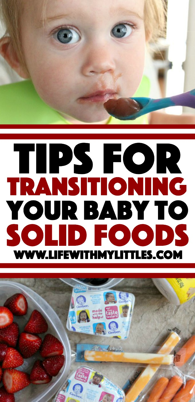 Tips from a mom of two for transitioning your baby to solid foods that will make it easy on both of you!