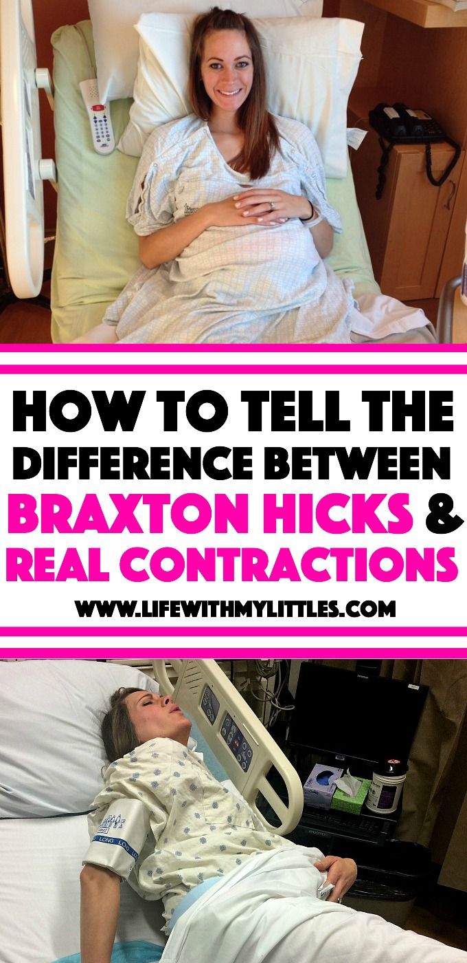 If you've never had a baby before, you may be wondering how to tell the difference between Braxton Hicks and real contractions. Here are some helpful ways to know what real contractions feel like and when you should head to the hospital!