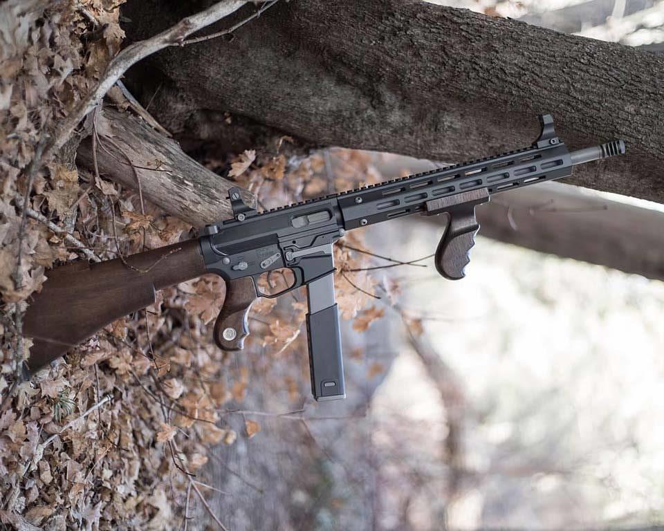 tommy gun style wood
