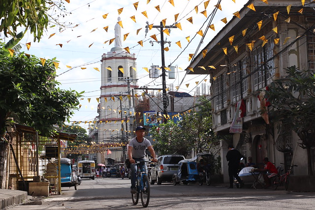 Malolos Cathedral & Dr. Jose Bautista House along Santo Niño Street