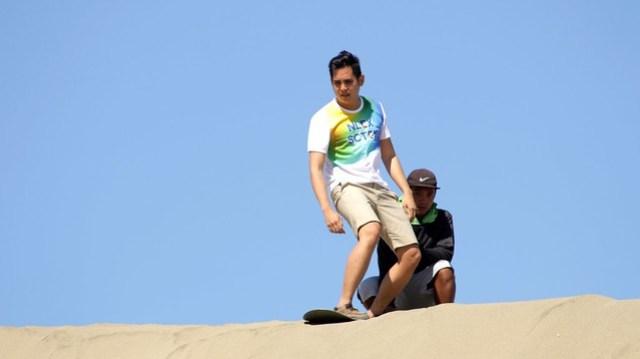 Sandboarding at La Paz Sand Dunes
