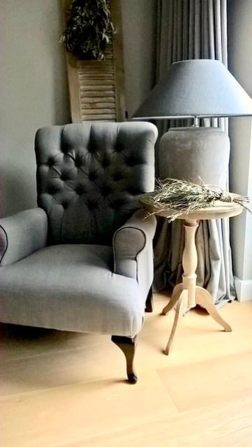 Wijntafel fauteuil landelijke stijl