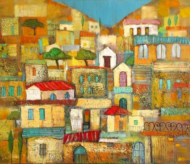 Марианна Калачева. Фигуративные картины в наивном стиле.