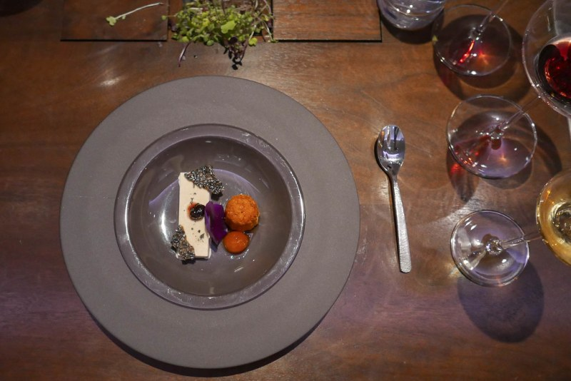 Foie Gras, Kumquat, Black Sesame, Canelé