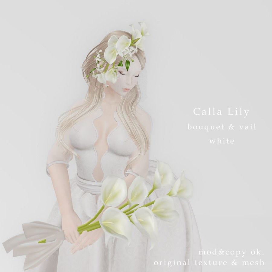 *NAMINOKE*Calla Lily bouquet & vail